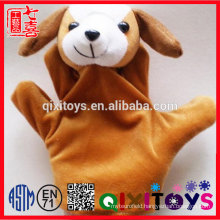 Cute various plush animal heard hand puppet popular soft stuffed funny hand puppet for theatre