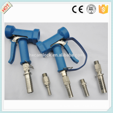 Blue cover brass wash down gun with swivel hose tail