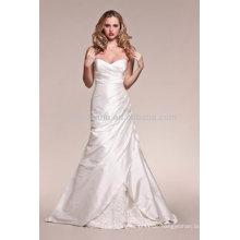 Heißer Verkauf 2014 Schatz-Backless A-Linie Hochzeits-Kleid-Kleid mit mit Rüschen besetztes Mieder NB016