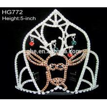 Con 12 años de fábrica de la experiencia directamente la tiara de la corona redonda completa cristalina