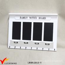 Family Notice Board Vintage White Hölzerne Wand Rack mit Blackboard