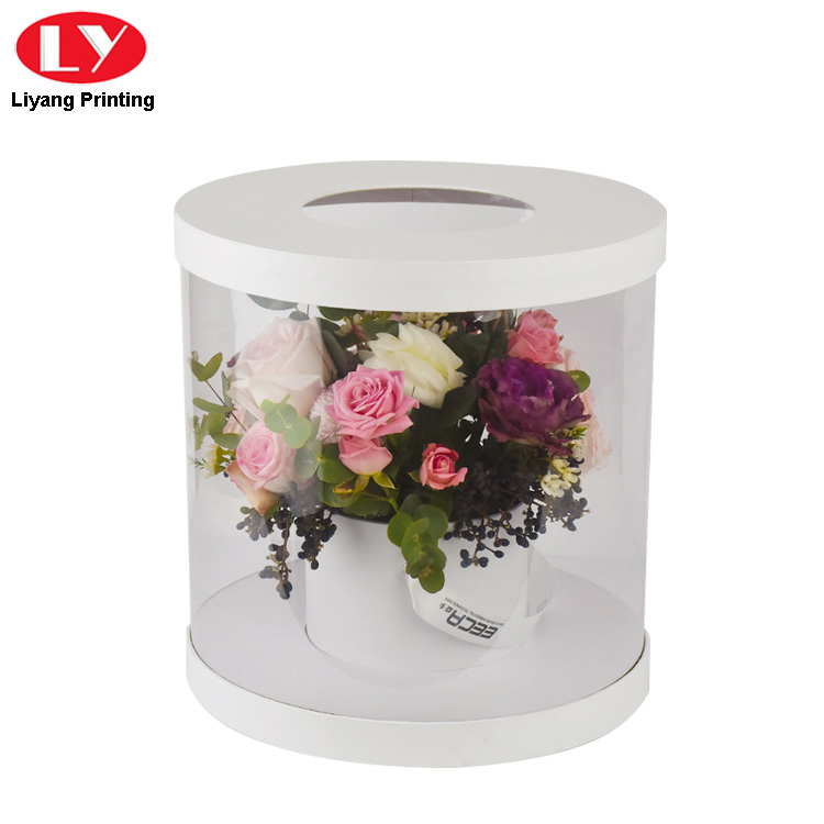 Flower Box Clear White Lid