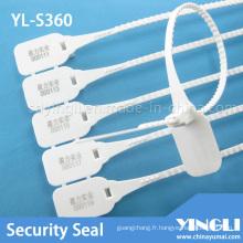 Sceau de sécurité en plastique de transport avec impression laser (YL-S360)