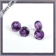 Круглый Фиолетовый Натуральный Полу Драгоценный Камень Бусины