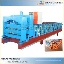 Popular Tipo doble capa de metal Roof paneles laminado en frío que forma la máquina / hoja doble de formación en frío de la línea