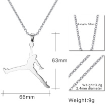 fashion jordan necklaces pendants stainless steel basketball accessories men jewelry
