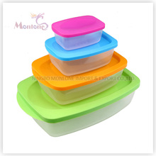 4pack Bento Lunch Box, bunte Mikrowelle Kunststoff Storage Food Container