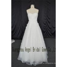 Vestido apliques de encaje escote corazón último vestido de diseño