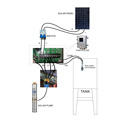 Solar Power Water Pump 2 3 4 Inch High Pressure DC Solar Water Irrigation Pump 112M Head With Mppt Controller