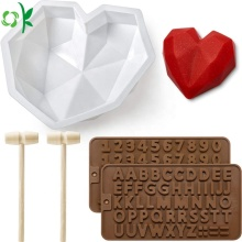 Diamond Heart Chocolate Chocolate Safe Silikon