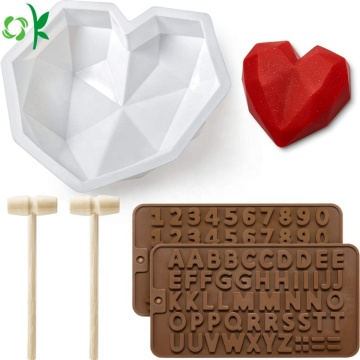 Diamond Heart Chocolate Acuan Selamat Silikon