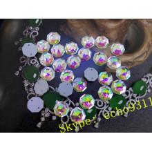 Шестигранной формы шить на свободные стеклянные камни для одежды (ДЗ-1189)