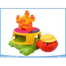 Juguetes educativos de la silla de la tortuga musical de los juguetes de los bloques multiusos
