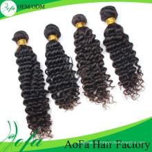 7А класс необработанные девственница выдвижение человеческих волос объемной волны волос Remy