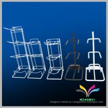 Diseño duradero del cliente Metal Blanco Estante de almacenaje de la botella de agua de 5 galones
