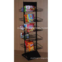Double Sides Floor Snack Food Display Stand (PHY1069F)