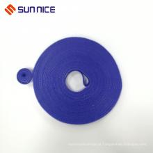 Fita de fixação de gancho e laço popularizada azul