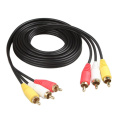 Cable de audio y video RCA macho 3