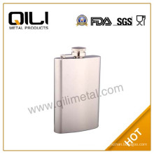 7oz promotional wholesale stainless steel vodka whisky hip flask