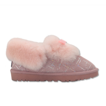 women's fuzzy warm home ankle slippers for winter