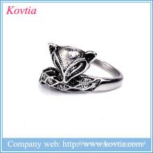 Chine Fournisseur Fox Shape Ring Fashion Bulk Vente Anneaux en acier inoxydable Bijoux en gros