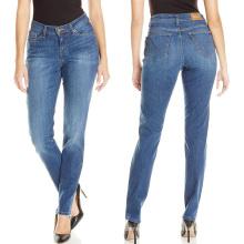 Fábrica OEM Moda Feminina Skinny Denim Calças Basic Cotton Jeans