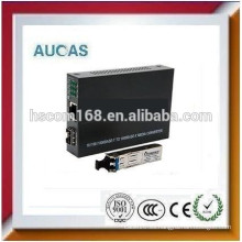 10 / 100Mbps de fibra óptica a rj45 convertidor de medios China oferta