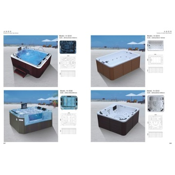 Jet Backyard Big wwimming Luxury Bathtub في الهواء الطلق