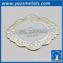 personalize chapas rosáceas de chapa de ouro 24k, com design