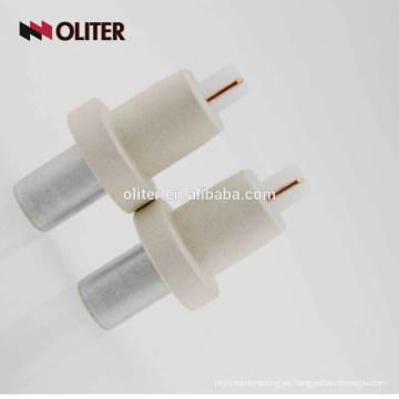 Oliter estéril estándar de renio tungsteno 604 triángulo desechable inmersión desechable kw termopar prescindible para acero líquido