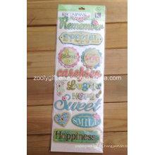 Artesanato Craft Scrapbooking Embellishments Glitter Adhesive Dimensional Stickers