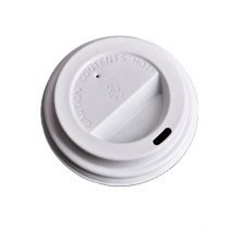80mm 90mm Biodegradable PLA lid paper coffee cup plain lid wholesale