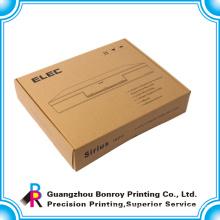 Foldable kraft paper low cost custom box with logo printing