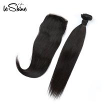 Fechamento brasileiro direto do cabelo alinhado da cutícula