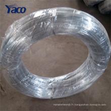 Fil galvanisé par électro de surface lumineuse, fil de GI de métal, fil de fer