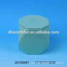 Taza de cerámica personalizada sin mango en forma especial, taza de cerámica con tapa