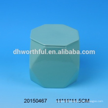 Customized ceramic mug without handle in special shape,ceramic mug with lid