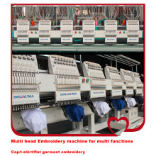 HOLiAUMA плоский компьютеризированный вышивальный станок для высокоскоростной машины для вышивания Cap / t-shirt