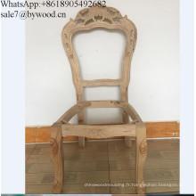 Cadre de chaise bon marché de meubles à la maison encadre en bois découpé par antiquité