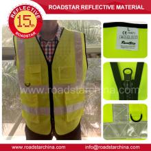 yellow/orange high quality warning reflective safety vest