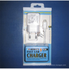 2 in 1 Packing Box USB Charger Wall Adapter Set for Mobile Phones
