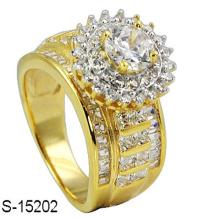 14k золото моды ювелирных изделий серебро кольцо с бриллиантом