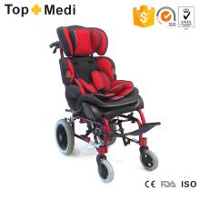 Topmedi Aluminium Recilning Kinderrollstuhl für Kinder mit Zerebralparese