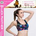 Nueva costumbre de la moda Hacer Sublimado Fitness Push Up Sports Bra