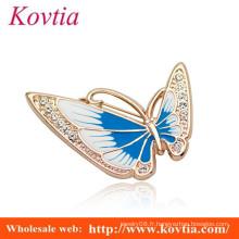 Belle broche en cristal de forme papillon pour invitation de mariage
