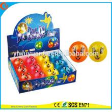 Juguete del niño de la venta caliente 65mm que destella de la Diamante-forma conejo imprimió la bola inflable del aire