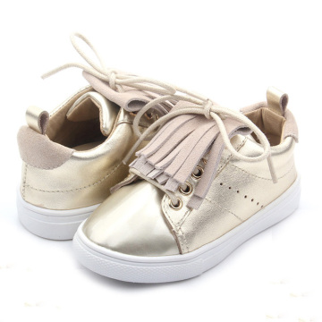 Gyllene PVC-yttersula Infant Shoes