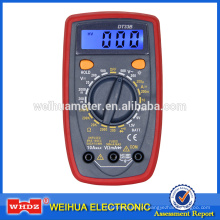Multímetro digital DT33B com teste de bateria de campainha / Holster de luz de fundo