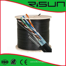 Hot Sale Factory Price Outdoor FTP Cat5e LAN Cable with Messenger