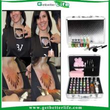 getbetterlife 2015 temporal brillo de resplandor cuerpo arte del tatuaje conjunto/glitter tatuaje kit/brillo Tatuajes